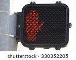don't walk orange stop hand... | Shutterstock . vector #330352205
