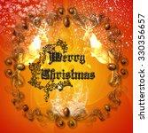 merry christmas with reindeer | Shutterstock . vector #330356657