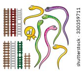snake and rope ladder set | Shutterstock .eps vector #330359711