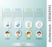 business teamwork infographics... | Shutterstock .eps vector #330365441