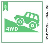 vector icon of four wheel drive ... | Shutterstock .eps vector #330370451