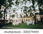 garland of lamps hanging on the ... | Shutterstock . vector #330374444