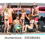 young people having fun on the... | Shutterstock . vector #330380681