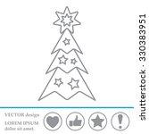 fir tree vector line icon. | Shutterstock .eps vector #330383951
