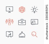 isolated minimal single flat... | Shutterstock .eps vector #330385091