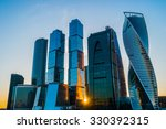 skyscrapers in moscow city at... | Shutterstock . vector #330392315