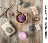 composition of spa treatment on ... | Shutterstock . vector #330395591