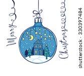 hand drawn fairy christmas... | Shutterstock .eps vector #330397484