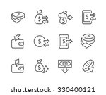 simple set of money related... | Shutterstock .eps vector #330400121