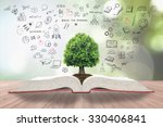 tree of knowledge on book for... | Shutterstock . vector #330406841