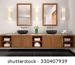3d illustration of double sink... | Shutterstock . vector #330407939