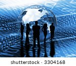 silhouette of a business team... | Shutterstock . vector #3304168