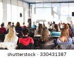 speaker giving presentation in...   Shutterstock . vector #330431387