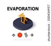 evaporation icon  vector symbol ...