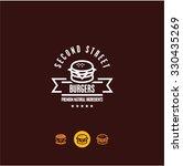burger logo  burger icon  fast... | Shutterstock .eps vector #330435269