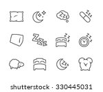 simple set of sleep related... | Shutterstock .eps vector #330445031