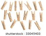 Stock photo clothespins 33045403
