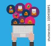 social media design  vector...   Shutterstock .eps vector #330458891