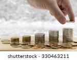 saving money concept male hand... | Shutterstock . vector #330463211