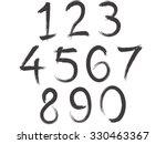 artistic brush alphabet font... | Shutterstock .eps vector #330463367