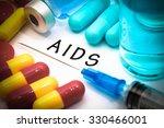 aids   diagnosis written on a... | Shutterstock . vector #330466001