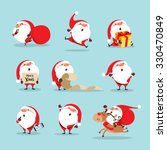 collection of christmas santa... | Shutterstock .eps vector #330470849