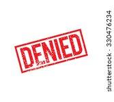 denied grunge stamp  vector | Shutterstock .eps vector #330476234