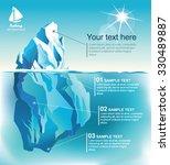 vector infographics. iceberg... | Shutterstock .eps vector #330489887
