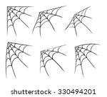 halloween corner spider web ... | Shutterstock .eps vector #330494201