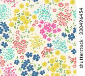 seamless ditsy floral pattern... | Shutterstock .eps vector #330496454