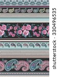 seamless paisley pattern in... | Shutterstock .eps vector #330496535