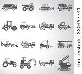 construction equipment icons...   Shutterstock .eps vector #330497741