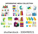infographic mega collection.... | Shutterstock .eps vector #330498521