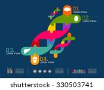 vector illustration of dna sign | Shutterstock .eps vector #330503741