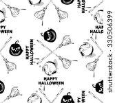 happy halloween wallpaper.... | Shutterstock .eps vector #330506399