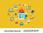 illustration of content king... | Shutterstock .eps vector #330509399