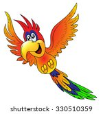 merry flying parrot insulated... | Shutterstock . vector #330510359
