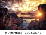 lefkada island lighthouse greece | Shutterstock . vector #330513149