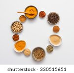group of indian spices and... | Shutterstock . vector #330515651