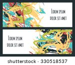 set of two colorful painted... | Shutterstock .eps vector #330518537