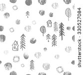 seamless winter forest pattern. ... | Shutterstock .eps vector #330527084