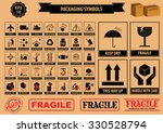set of packaging symbols  this... | Shutterstock .eps vector #330528794