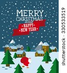 vector merry christmas and... | Shutterstock .eps vector #330533519