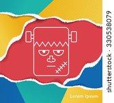 halloween monster line icon | Shutterstock .eps vector #330538079
