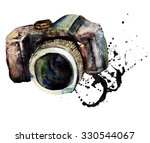 watercolour camera  | Shutterstock . vector #330544067