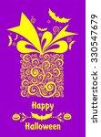 happy halloween  greeting card. ... | Shutterstock .eps vector #330547679