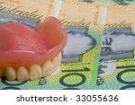 false teeth prosthetic on... | Shutterstock . vector #33055636