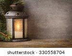 Lantern With Christmas Tree ...