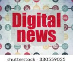news concept  painted red text... | Shutterstock . vector #330559025