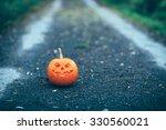 halloween carved pumpkin or... | Shutterstock . vector #330560021